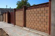 Строительство забора из кирпича или блока от УютСтройКараганда. - foto 3